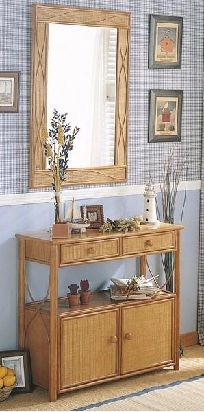 Meuble rotin du pacific vente de meuble en rotin en for Miroir rotin noir